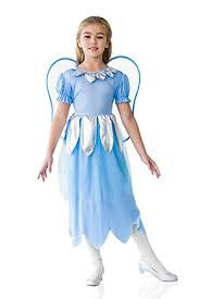 Kids Light Halloween Costume Amazon Kids Girls Blue Fairy Halloween Costume Elf Butterfly