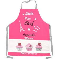 tablier cuisine fille tablier de cuisine enfant personnalisé cupcake