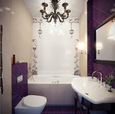 bathroom wall tiles design dark purple wall tiles with white tub and elegant black iron