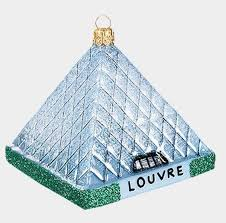 louvre museum pyramid glass ornament