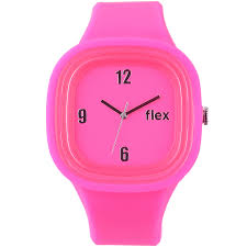 pink colors watches with a cause flex watches