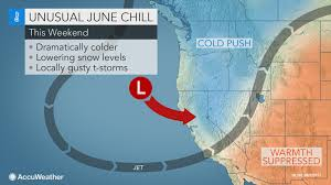 Western Caribbean Map by Out Of Season Cold Blast To Yield June Mountain Snow For Western Us