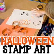 halloween stamp art busy toddler