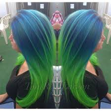 Green Color How To Blue Green Colormelt Hair Color Blue Green Rose And