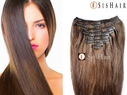 clip in human hair extensions clip in hair extensions 4 medium brown