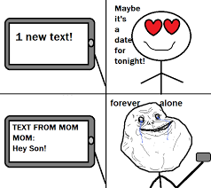 Know Your Meme Forever Alone - ipod text forever alone know your meme