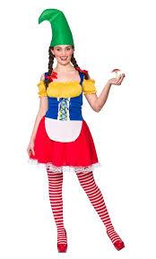 Lawn Gnome Halloween Costume Cute Gnome Ladies Fancy Dress Garden Troll Elf Christmas Womens
