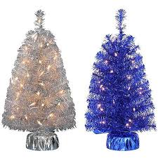 buy time pre lit 2 noble fir mini artificial tree