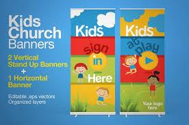 church banners presentation templates creative market
