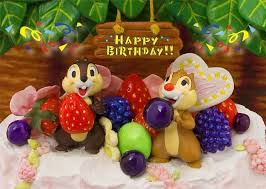 miss girlie chip and dale big birthday cake 3d lenticular