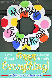 happy everything plate attachments year happy everything wreath coton colors knock