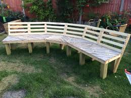 Patio Furniture Made From Pallets by Now Just Needs To Be Painted Upcycled Curved Fire Pit Bench Made