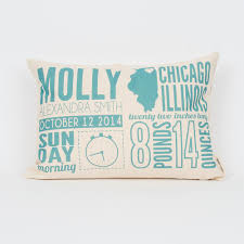 personalized pillow birth announcement personalized pillow finch cotter