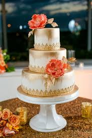 coral wedding cakes an navy and coral wedding every last detail
