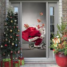Door Decals For Home by Merry Christmas Santa Claus Door Stickers Cute Wall Art Removable