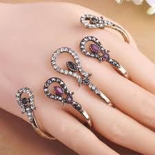 hand jewelry rings images Hot selling vintage women rings four fingers hand accessories jpg
