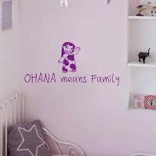 que signifie chambre vinyle mur mot autocollant ohana signifie famille bébé pépinière