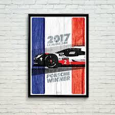 porsche poster porsche le mans 2017 winner poster 1 car bone pl
