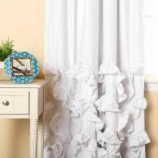 Curtains With Ruffles Curtain White Ruffle Curtains Blackout White Blackout Curtains