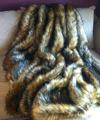 Faux Fur Blankets And Throws Lion Lion U0027s Fake Faux Fur Blanket Throw Comforter Bedspread Sham