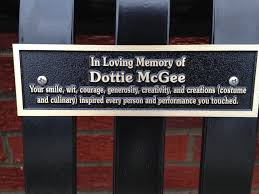 memorial benches for dottie mcgee outside costume shop u2013 union