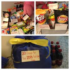 my gift to my for his 20th birthday 20 things for your