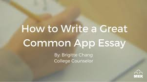common app sample essay how to write a great common app essay mek review