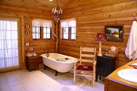accessories foxy log cabin bathrooms your home decorations