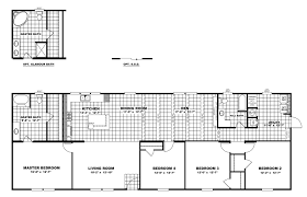 Double Wide Floor Plans With Photos by The Tradition 76a