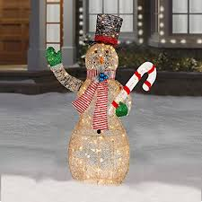 funk with an outdoor lighted snowman funk this house