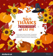 happy thanksgiving day colorful background place stock vector