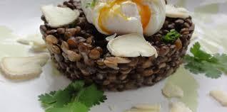 cuisine lentilles vertes risotto lyonnais aux lentilles vertes et oeuf poché pas cher