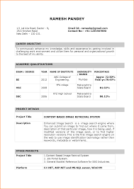 resume format for in word 9 fresher resume format in word invoice template