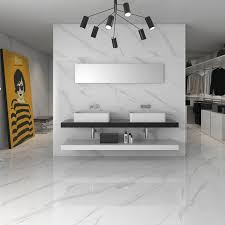 statuary high gloss white floor tiles come in two sizes including