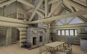 interior design creative painting interior log cabin walls room