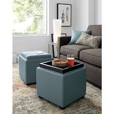 Soft Ottoman Cube Stow 17 Leather Storage Ottoman Ottomans Crate And