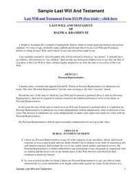 template wills how to find a free sle last will and testament template will