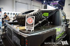 jeep truck conversion 2016 sema dv8 jeep jk 8 pickup truck