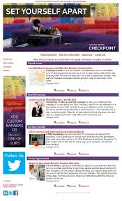 Email Resume Template Sample Payroll Email Newsletter Template Checkpoint Marketing