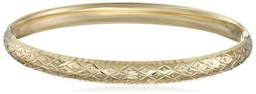 gold bangle bracelet with diamonds images 14k yellow gold diamond cut bangle bracelet 2 4 quot jewelry jpg