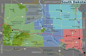 Nebraska Time Zone Map by South Dakota Regions Map U2022 Mapsof Net