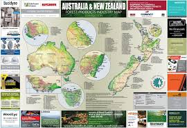 New Zealand And Australia Map Fiea Advancing Wood Technology