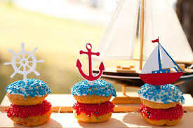 anchor theme baby shower nautical cupcake toppers set of 12 sailboat baby shower