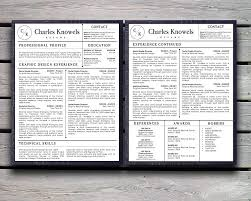 Apple Pages Resume Templates Free Charles Knowels Resume 5 Pack For Ms Word And Apple Pages Stand