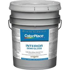 buy colorplace interior semi gloss country white paint 5 gal in