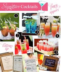 signature cocktail ideas for weddings pizzazzerie