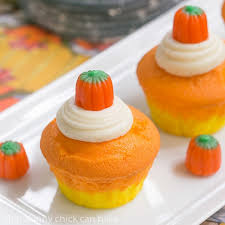 pumpkin candy corn candy corn cupcakes