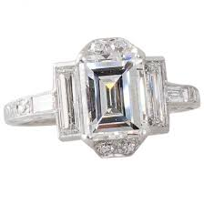 art deco emerald cut diamond ring rings diamond