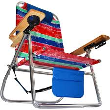 High Beach Chairs Titan Big Fish Hi Seat Aluminum Folding Beach Chair Maui Stripe