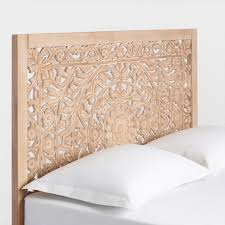 Carved Wood Headboard Carved Zaria Headboard World Market